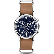 Timex Mens Analogue Classic Quartz Watch with Leather Strap thumbnail
