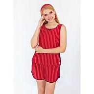Đồ mặc nhà Bộ ngắn nữ sát nách Tvm Luxury Homewear B530 thumbnail