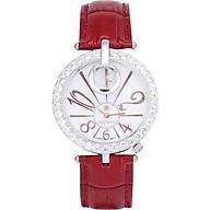 Đồng hồ nữ chính hãng Royal Crown 3850 dây da đỏ thumbnail