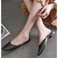 Dép mules nữ thời trang, dép sục hàn quốc form nhỏ đặt tăng 1 size V193 thumbnail