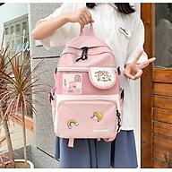 Balo nữ đi học thời trang chống nước kèm sticker kiểu dáng Hàn Quốc thumbnail