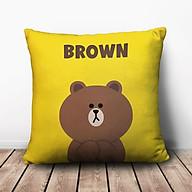 Gối Vuông Gấu Brown GVCT492 (36 x 36 cm) thumbnail