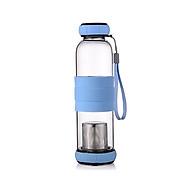 Bình nước thủy tinh có ngăn lọc trà 550ml - Giao màu ngẫu nhiên thumbnail