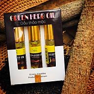 Dầu thảo dược Adeva Naturals - Green herb oil (set 3 chai 10 ml) - Sản phẩm của Việt Nam - Dầu thảo mộc giúp thư giãn, giảm đau nhức, làm dịu vết côn trùng cắn, hít ngửi làm thông mũi, họng. thumbnail