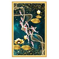 Decal trang trí Cửu ngư quần hội bên hoa sen LV-0266K thumbnail