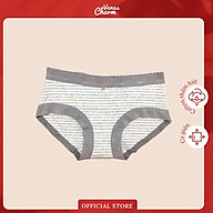 Quần lót cotton đẹp Venus Charm 9109 họa tiết kẻ sọc, co giãn thấm hút mồ hôi thumbnail
