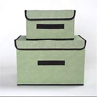 Sét 2 Hộp vải đựng đồ tiện lợi, thùng đựng quần áo đa năng loại 1 thumbnail