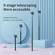 TELESIN IS-MNP-300 Sports Camera Selfie Stick 3 Meters 118 Inches Ultra Long Action Camera Vlog Bracket Carbon Fiber thumbnail