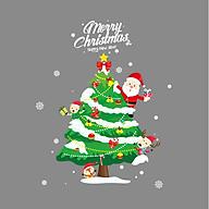 Cây thông Noel - Decal 2 mặt hình dán trang trí kính gương thumbnail