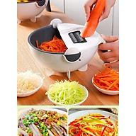 Bộ dụng cụ nạo rau củ quả đa năng 9 trong 1 kèm rổ đựng đa năng tiện dụng thumbnail