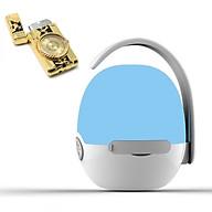 Loa nghe nhạc mini siêu trầm hình quả trứng hỗ trợ bluetooth, thẻ nhớ, kết nối đàm thoại + Hộp quẹt bật lửa khò kiêm đồng hồ thơi thượng (Màu ngẫu nhiên) thumbnail