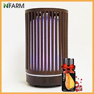 Máy khuếch tán máy xông tinh dầu hình Trụ Sọc N Farm NF2063 + tinh dầu cam hương N Farm (10ml) Phun sương sóng siêu âm. thumbnail