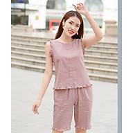 Bộ lửng mặc nhà cộc tay cổ tim cao cấp Hoa Việt thumbnail