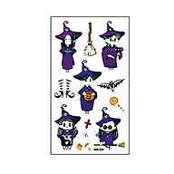 Full Arm Tattoo Stickers for Halloween Self-Adhesive Temporary Tatoo Noctilucence Decals Water Transfer DIY Tatoo Body thumbnail