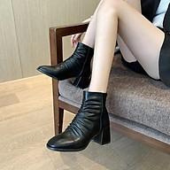 Boost sun cao cấp 5p màu đen- boots da nữ kiểu dáng trẻ trung hót 2020 thumbnail