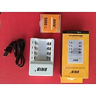 Bộ Sạc Pin Tiểu AA - Tặng kèm 4 viên pin sạc AA dung lượng đến 3000mAh thumbnail