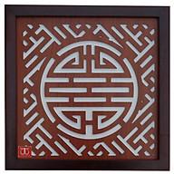 Tấm chống ám khói hương bàn thờ mẫu chữ Thọ khung nâu đen - TL307 thumbnail