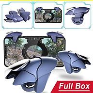 Bộ 2 nút bấm chơi game Pubg Mobile Blue Shark CH5 hỗ trợ chơi game trên điện thoại thumbnail