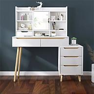 Bàn phấn hiện đại kèm tủ ngăn kéo (kt 132x93,5x40cm) thumbnail