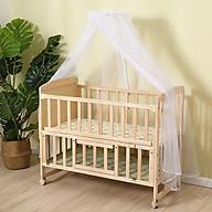 Giường cũi gỗ cho bé cao cấp tặng kèm đèn ngủ đang yêu thumbnail