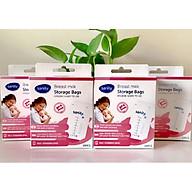 Combo 4 hộp túi trữ sữa Sanity, mỗi hộp 30 túi, thể tích 210ml túi, túi có 2 khóa zipper, nhựa cao cấp không chứa BPA thumbnail