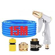 Bộ dây vòi xịt nước tưới cây rửa xe,tăng áp 3 lần, loại 15m (cút nhựa nối đồng nhựa) 206846 thumbnail