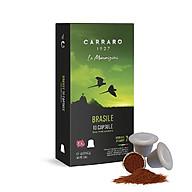 [Bao bì mới] Cà phê viên nén Carraro Single Origin Brasile thumbnail