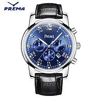 Đồng hồ nam PREMA dây da cao cấp, 6 kim có dạ quang, có lịch ngày - PREA1 thumbnail