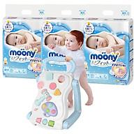 Combo 3 gói tã dán Moony cao cấp size NB90 S84 M64 L54 XL44 tặng bàn chơi đa năng và đồ chơi Toys House (ngẫu nhiên) thumbnail