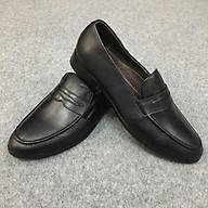 Giày da nam lười LH 124 đen thumbnail