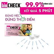 [ 99.9% CHÍNH XÁC ] - HỘP QUE RỤNG TRỨNG LH OVULATION RAPID TEST BIOCHECK - 7 QUE HỘP - NGƯỠNG PHÁT HIỆN 40MIU ML - THƯƠNG HIỆU MỸ thumbnail