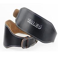 Đai Lưng Cứng Tập GYM Da Bò Thật Có Đệm & Logo Valeo thumbnail