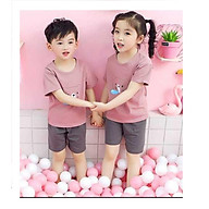 Bộ quần áo mùa hè cho các bé từ 3 - 10 tuổi in hình ngộ nghĩnh thumbnail
