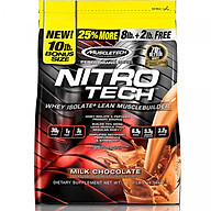Sữa tăng cơ Nitro-Tech bịch 10lbs (4.54Kg) - Hàng chính hãng Muscletech USA thumbnail