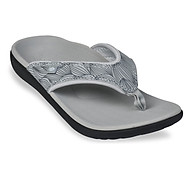 Dép Sức khoẻ Nữ Spenco Yumi Wave Grey - Dép kẹp nữ giảm đau mỏi chân thumbnail