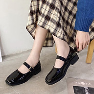 Sandal Nữ Quai Hậu Đế Bệt Vuông Đi Học Thời Trang Cao Cấp Ladiez , Giày Sục Nữ Quai Ngang Mũi Tròn Da Mềm Êm Chân Xinh Xắn Siêu Đẹp thumbnail