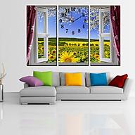 Tranh treo tường, tranh đồng hồ DH2483A bộ 3 tấm ghép thumbnail