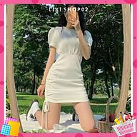 Đầm trắng body rút dây khoét eo xinh xắn,đầm nữ, váy nữ, đầm trắng dễ thương thumbnail
