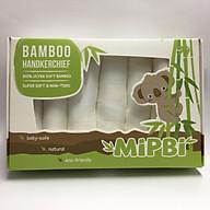 Hộp 6 khăn mặt sợi tre Mipbi cao cấp 100% sợi tre 3 lớp siêu mềm thumbnail