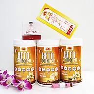 Combo 3 hộp Keto Collagen 500g [Chính Hãng] - Bữa ăn Keto hỗ trợ GIẢM CÂN SIÊU TIỆN LỢI cho người thực hành Keto và người muốn giảm cân - Giảm 3-7Kg 1 tháng [Tặng 1 Hộp Keto Detoxx giảm cân cấp tốc, 1 hộp Mặt nạ Saffron sữa ong chúa và 1 Thước dây] thumbnail