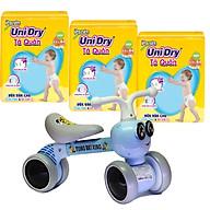Combo 3 gói tã quần Unidry XXL44 tặng xe chòi chân con ong phát đèn nhạc VBCare 052 thumbnail
