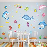 Decal dán tường trang trí phòng ngủ, lớp mầm non- Cá đối đỏ- mã sp DXL7159 thumbnail