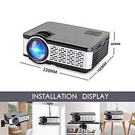 Máy Chiếu Siêu Nét W5 Projector Hỗ Trợ Độ Phân Giải 1080P Độ Sáng 4000Lumens Kết Nối Bluetooth 4.0, Wifi,USB HDMI 2 AV VGA SD Kèm Kính Thực Tế Ảo Vr Box (Màu Giao Ngẫu Nhiên) thumbnail