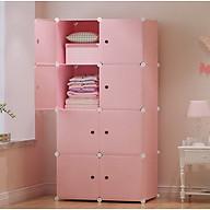 Tủ nhựa lắp ghép 8 ô full hồng, full ô thumbnail