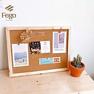 Bảng ghim bần gỗ dán ghi chú, tranh ảnh, decor tặng kèm phụ kiện Bảng gỗ đa năng để bàn thumbnail