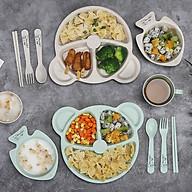 Khay Ăn Dặm Lúa Mạch 3 Ngăn 6 Món Cho Bé Tập Ăn (giao màu ngẫu nhiên) thumbnail