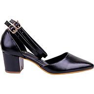 Giày Sandal Nữ Gót Vuông 2 Dây Mozy thumbnail