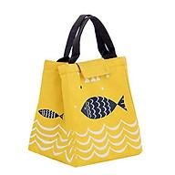 Túi đựng hộp cơm, túi đựng thức ăn giữ nhiệt size lớn hình cá thumbnail