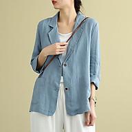 Áo vest Linen blaze nữ ve vuông dáng lửng tay dài ArcticHunter, thời trang hè thu 2021 thumbnail