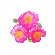 Bộ 20 chùm hoa đào hồng (1 chùm gồm 3 bông + 3 nụ) thumbnail